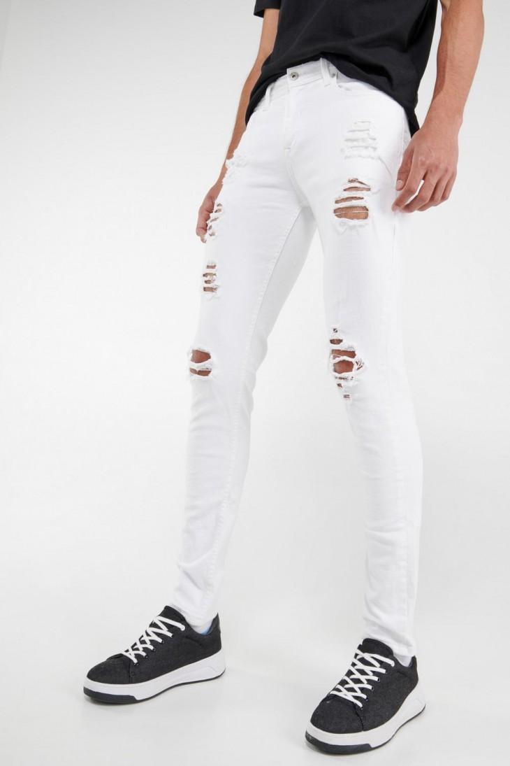 Jean skinny con rotos