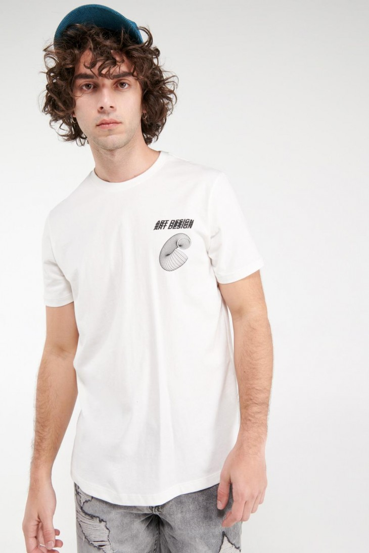 Camiseta básica manga corta estampada.
